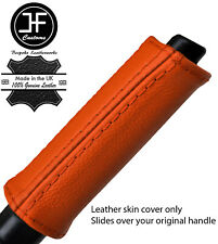 ORANGE REAL LEATHER HANDBRAKE HANDLE COVER FOR NISSAN 300ZX Z32 1989-1996