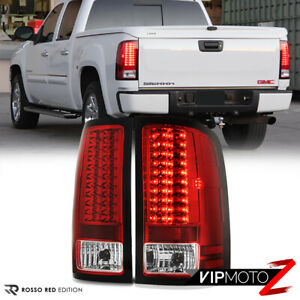 [PREMIUM] For 07-13 GMC Sierra 1500 2500 3500 HD Factory RED LED Tail Light Lamp