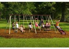 Flexible Flyer Play Park Flyer Outdoor Metal Swing Set