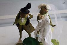 "Vintage Rare Annalee Dolls 10"" Bride & Groom Frog Made in Meredith, NH, 1969"