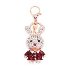 Key Ring Bag Charm Character Rhinestone Keyring Keychain UK Rabbit Red