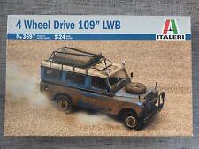 ITALERI 3697 - LAND ROVER 4 WHEEL DRIVE 109 LWB - VERY RARE 1/24 SCALE MODEL KIT