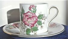 WEDGWOOD 'CHARNWOOD' PATTERN COFFEE CUP & SAUCER, PERFECT