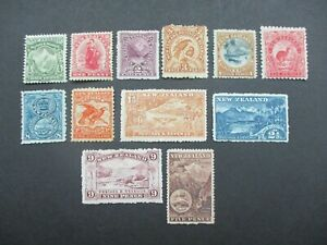 New Zealand Stamps: 1902 -07 Variety Set Mint   - Great Item (e186)