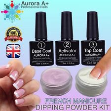 Dipping Powder Acrylic FRENCH MANICURE KIT Dip System AIR Dry Fast SET (1,11)