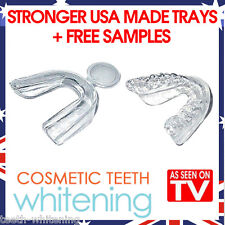 TEETH WHITENING MOUTH TRAY SET (2 TRAYS) - HIGH QUALITY BETTER USA MADE GUARDS