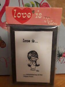 Vintage Love Is Plaque by Kim Casali, Sealed Wallace Berrie & Co. 1970 LA Times