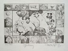 "CHARLES BRAGG ""GLUTTONY"" Hand Signed Limited Edition Fine Art Etching"