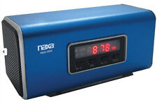 Naxa Blue Portable Rechargeable Rectangle Speaker PC iPod iPhone from US Seller