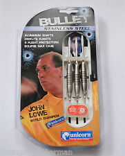 JOHN LOWE BULLET STAINLESS STEEL SOFT TIP DARTS SET 16g