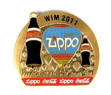 ZIPPO BALLON Pin / Pins - WIM 2011 mit COCA COLA / gold [3721]
