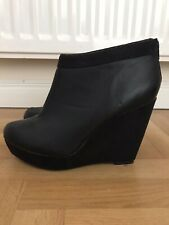 New Look Black Wedge Ankle Shoe Boot UK Size 7