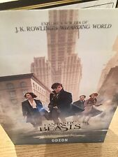 RARE Fantastic Beasts And Where To Find Them A5 Film Booklet. Eddie Redmayne NEW