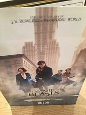Fantastic Beasts And Where To Find Them Limited Edition Odeon Mini Booklet NEW