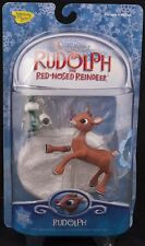 Memory Lane Rudolph Red Nose Reindeer W/ Light Up Nose Figure NEW