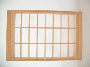 Window 24-Light  w/ trim dollhouse miniature  #5007 1pc  wooden 1/12 scale