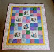 """UNIQUE MINI QUILT LOVER BLOCKS ON  HOMEMADE QUILT LAP WALL  41 X 50"""" sewing"""