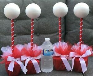 new bnwot 4 x red & white sweet kits trees table centres gifts activities DIY **