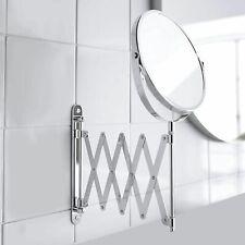 3 ×MAGNIFYING WALL EXTENDING ROUND MIRROR BATHROOM SHAVING MAKE UP VANITY 2-Side