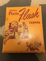 Whittaker Pixie Flash Subminiature Bakelite Camera w/ Original Box & Manual-Nice