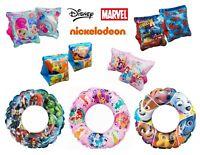 Swimming Ring / Arm Bands - Disney Spiderman Avengers Paw Patrol Girls Boys