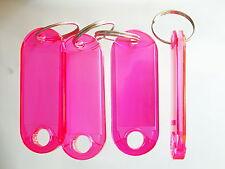 50 Schlüsselanhänger  Schlüsselschilder Anhänger m Etiketten Hart PINK