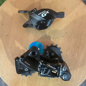 SRAM GX 1x11 Speed Long Cage Rear Derailleur Front Shifter Black USED GOOD