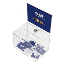 HMF Spendenbox Aktionsbox Losbox Acryl mit DIN A5 Blatteinschub