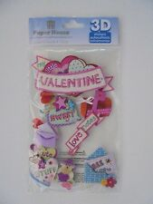 3D PAPER HOUSE HAPPY VALENTINES DAY SCRAP BOOK STICKERS