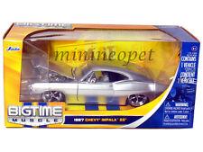 JADA BIGTIME 96286 1967 67 CHEVY IMPALA SS 1/24 DIECAST MODEL CAR SILVER