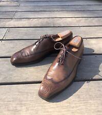 Berluti Richelieu chaussure homme à Lacets 8,5-42 cuir Venezia patine marron
