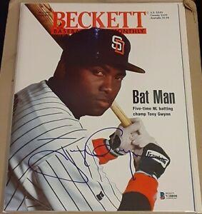 Tony Gwynn San Diego Padres SIGNED AUTOGRAPHED 1995 Beckett Magazine BAS #V28898