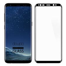 9H Hartglas Samsung S8 HD Panzer Glas Folie 3D Display Schutz FullCover Schwarz