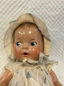 """Vintage  Composition & Cloth """"Dream Baby"""", Painted Blue Eyes, Open Mouth, R & B"""