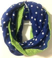 Abercrombie Kids Infinity Scarf Polka Dot Royal Blue Green Lining Premium Preppy