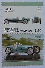 1934 BUGATTI TYPE 59 (Grand Prix) Car Stamps (Leaders of the World / Auto 100)
