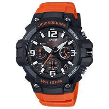 Casio MCW100H-4AV Men's Orange Resin Band Heavy Duty Chronograph Sports Watch