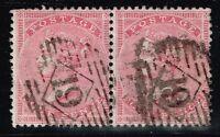 Great Britain SG# 66 Used Pair - Wmk Large Garter - Lot 10415