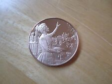 """Christmas Solid Bronze Medal, dated 1980, 1-1/2"""" OD"""