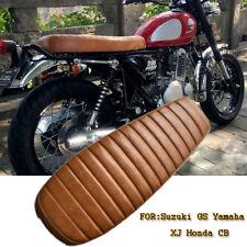 1Pcs Marron Vintage Cafe Racer Selle De SièGe Pour Suzuki GS Yamaha XJ Honda CB