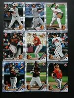 2019 Bowman Baltimore Orioles Paper Base Team Set 9 Baseball Cards