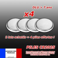 Lot 4 Piles bouton CR2025 Lithium PC télécommande ...