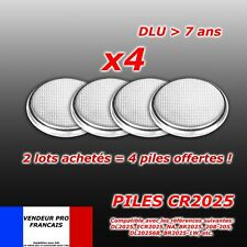 Lot 4 Piles bouton CR2025 CR 2025 DL2025 Lithium PC télécommande ...