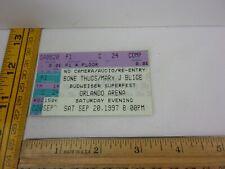 Bone Thugs Mary J Blige 9/20/1997 concert show ticket Orlando