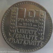10 francs turin 1948 : SUP : pièce de monnaie française