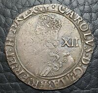 Silver 1638-39 England Great Britain Shilling | Charles I | Anchor MM | S-2796