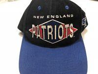 NFL New England Patriots Football Logo Athletic Vintage Cap Black Blue Diamond