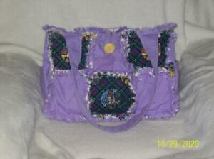 Beauty and the Beast Disney Rag Quilt DiaperBag  BagTote Purse