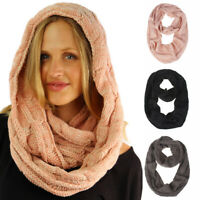 Winter Warm Wool Soft Shawl Wrap Collar Scarves Knitted Neck Scarf Circle Ring