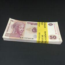 CONGO D.R. 50 Francs X 100 PCS 2013 P-97 Full Bundle UNC Uncirculated